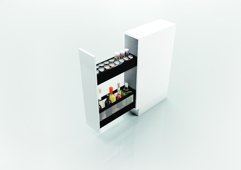 Бутылочница TANDEMBOX antaro (ширина 200, глубина 500 мм), крепление под саморез, черная | Купить на Fierashop.ru